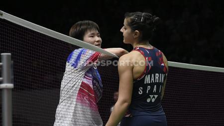 Kalah di final Denmark Open 2020, pebulutangkis tunggal putri Spanyol Carolina Marin gagal sudahi dominasi wakil Asia. - INDOSPORT