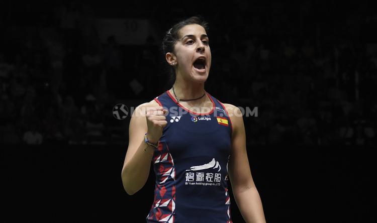 Carolina Marin melaju ke final Indonesia Masters 2020. Copyright: Herry Ibrahim/INDOSPORT