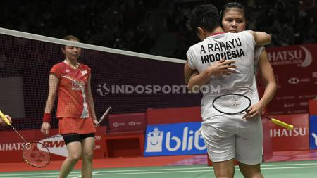 Greysia Polii/Apriyani Rahayu berpeluang meraih back to back juara di ganda putri Thailand Masters 2020, meski jalan tak mudah harus mereka lalui. - INDOSPORT