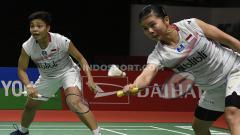 Indosport - Hasil pertandingan Spain Masters 2020, Sabtu (22/02/20): Ke final, Greysia Polii/Apriyani Rahayu selangkah lagi juara.