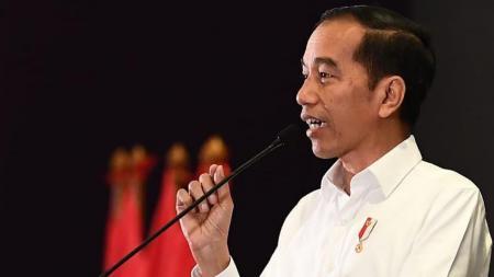 Presiden Republik Indonesia, Joko Widodo ketika berpidato - INDOSPORT