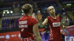 Indosport - Ganda putri Denmark, Sara Thygesen/Maiken Fruergaard singkirkan pasangan unggulan 4 asal Jepang, Misaki Matsumoto/Ayaka Takahashi di Indonesia Masters 2020.