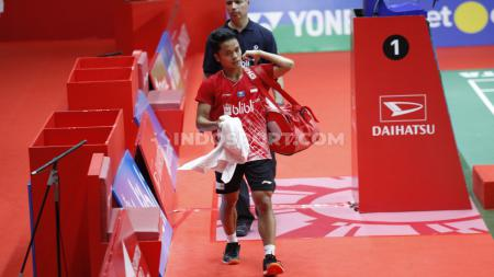Tunggal putra Indonesia, Anthony Sinisuka Ginting. - INDOSPORT
