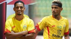 Indosport - Renan Silva vs Bruno Matos (Bhayangkara FC).