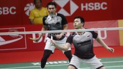 Indosport - Detik-detik momen 'tidak senonoh' dari pasangan Mohammad Ahsan/Hendra Setiawan yang buat wakil Chinese Taipei kelabakan.