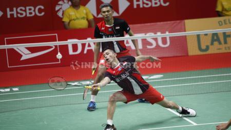 Ganda Putra Indonesia, Fajar Alfian/Muhammad Rian Ardianto harus mengalami penurunan peringkat di ranking BWF. - INDOSPORT