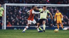Indosport - Situasi pertandingan Liga Inggris Arsenal vs Sheffield United.