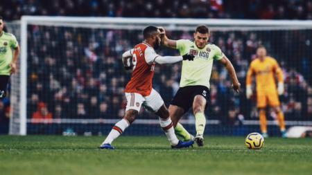 Situasi pertandingan Liga Inggris Arsenal vs Sheffield United. - INDOSPORT