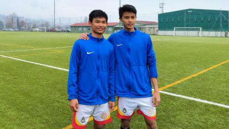 Wonderkid PSM dan Bhayangkara FC di Garuda Select, Edgard Amping dan Arsa Ahmad. - INDOSPORT