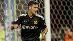 Indosport - Giovanni Reyna, pemain klub Bundesliga Jerman, Borussia Dortmund, asal Amerika Serikat.