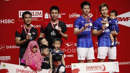Kevin/Marcus bongkar kelemahan Ahsan/Hendra setelah sukses meraih gelar juara Indonesia Masters 2020. - INDOSPORT