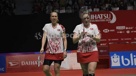 Runner-up Indonesia Masters 2020, Maiken Fruergaard/Sara Thygesen dikalahkan pasangan peringkat 41 dunia di semifinal SaarLorLux Open 2020. - INDOSPORT