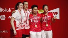 Indosport - Kemenangan di Indonesia Masters 2020 membuat Greysia Polii/Apriyani Rahayu kini memiliki rekor enam kemenangan atas Maiken Fruergaard/Sara Thygesen.
