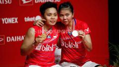 Indosport - Pasangan ganda putri, Greysia Polii/Apriyani Rahayu resmi memutuskan mundur dari turnamen Thailand Masters 2020.