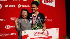 Indosport - Kemenangan Anthony Sinisuka Ginting di final Indonesia Masters 2020 dipersembahkan kepada sosok spesial yang menyaksikan langsung pertandingan.