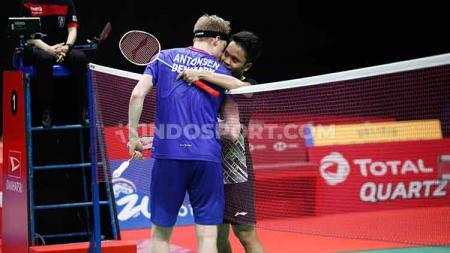 Pebulutangkis Denmark, Anders Antonsen memberikan julukan ini kepada Anthony Sinisuka Ginting sebelum dikalahkan dari Indonesia Masters 2020. - INDOSPORT