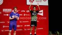 Indosport - Lagu daerah Sumatera Utara, Sinanggar Tullo mendadak viral pasca perhelatan final Indonesia Masters 2020.