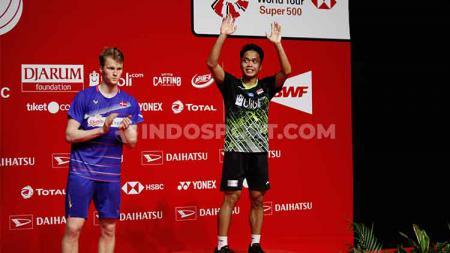 Lagu daerah Sumatera Utara, Sinanggar Tullo mendadak viral pasca perhelatan final Indonesia Masters 2020. - INDOSPORT