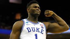 Indosport - Zion Williamson saat masih bermain di Duke Blue Devils bakal melakoni debutnya di NBA bersama New Orleans Pelicans.