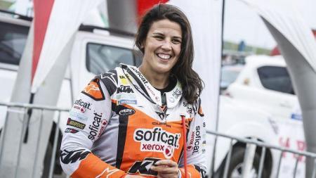 Pereli wanita, Laia Sanz, mengungkap kesulitan membalap di Arab Saudi. - INDOSPORT