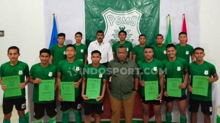 Secara total, PSMS Medan telah resmi mengumumkan 20 pemain baru. - INDOSPORT