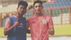 Indosport - Jack Brown bersama dengan Bagas Kaffa saat menjalani seleksi Timnas U-19.