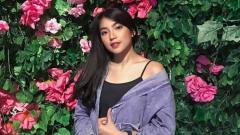 Indosport - Shania Gracia, member JKT48 yang menunjukkan perhatian kepada Kevin Sanjaya Sukamuljo.