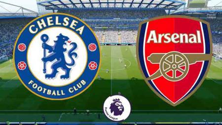 Chelsea vs Arsenal di Liga Inggris. - INDOSPORT