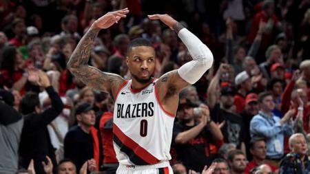 Damian Lillard, pemain bintang basket NBA dari tim Portland Trail Blazers. - INDOSPORT