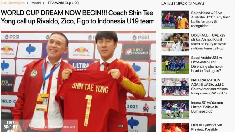 Media Asing Soroti Rivaldo, Zico, dan Figo dalam Timnas Indonesia Copyright: livesportasia.com