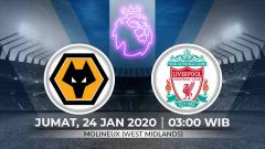 Indosport - Wolves akan menjamu Liverpool dalam laga lanjutan Liga Inggris pekan ke-24 yang berlangsung di Molineux Stadium pada hari Jumat pukul 03.00 WIB (24/1/2020).