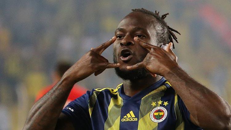 Gelandang serang klub Liga Inggris, Chelsea, Victor Moses yang dipinjamkan ke Fenerbahce dilaporkan bakal segera bergabung dengan Inter Milan Copyright: Anadolu Agency/GettyImages