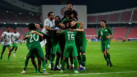 Berikut hasil pertandingan semifinal Piala Asia U-23 2020 pada Rabu (22/01/20) malam, Korea Selatan hancurkan Australia dan Arab Saudi melenggang ke babak final. - INDOSPORT