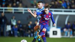 Indosport - Proses gol yang dilakukan Antoine Griezmann di laga Copa del Rey antara Ibiza vs Barcelona