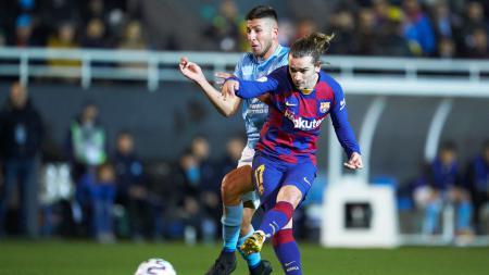 Proses gol yang dilakukan Antoine Griezmann di laga Copa del Rey antara Ibiza vs Barcelona - INDOSPORT