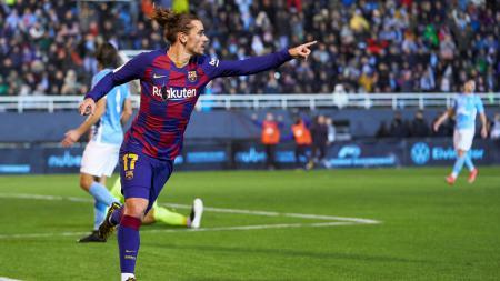 Penyerang Barcelona, Antoine Griezmann, dipastikan bakal bertahan di Camp Nou musim depan - INDOSPORT