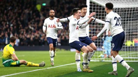 Hasil pertandingan Tottenham Hotspur vs Norwich City berakhir dengan skor 2-1 di Liga Inggris 2019-20, Kamis (23/01/20) dini hari WIB. - INDOSPORT