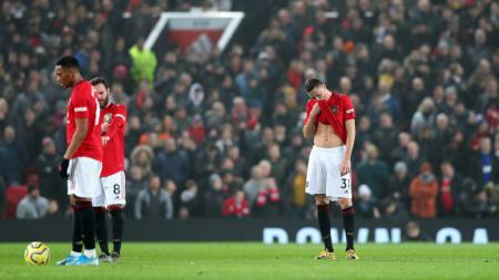 Berikut klasemen sementara Liga Inggris hingga pekan ke-28, di mana posisi 5 besar Manchester United terancam. - INDOSPORT