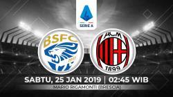 Berikut presdiksi pertandingan Serie A Italia 2019-2020 pekan ke-21 antara Brescia vs AC Milan