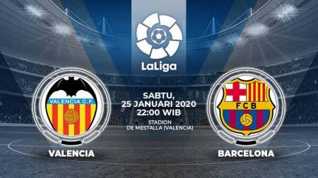 Berikut link live streaming pertandingan sepak bola kompetisi LaLiga Spanyol pada pekan ke-21 antara Valencia vs Barcelona. - INDOSPORT