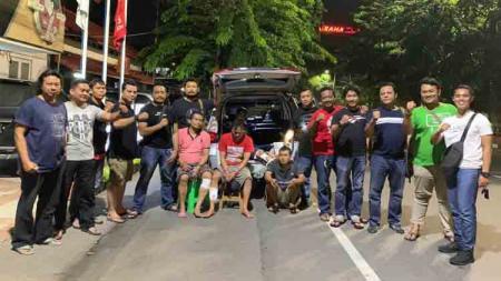 Komplotan maling kran di Stadion Jatidiri berhasil diamankan oleh aparat Polrestabes Semarang. - INDOSPORT