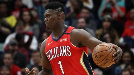 Rookie milik New Orleans Pelicans, Zion Williamson dikabarkan telah meninggalkan area gelembung NBA di Disney World Orlando. - INDOSPORT