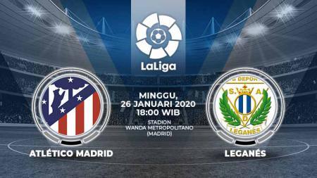 Berikut link live streaming pertandingan LaLiga Spanyol 2019-2020 antara Atletico Madrid vs Leganes yang berlangsung hari ini, Minggu (26/1/20) pukul 18.00 WIB. - INDOSPORT