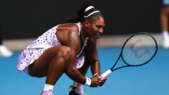 Indosport - Serena Williams takluk dari Wang Qiang di hari kelima turnamen tenis Australia Terbuka 2020.