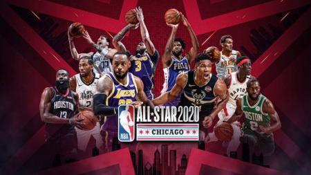 NBA sudah mengumumkan para pemain yang akan menjadi starter di All-Star 2020. LeBron James dan Giannis Antetokounmpo menjadi kapten. - INDOSPORT