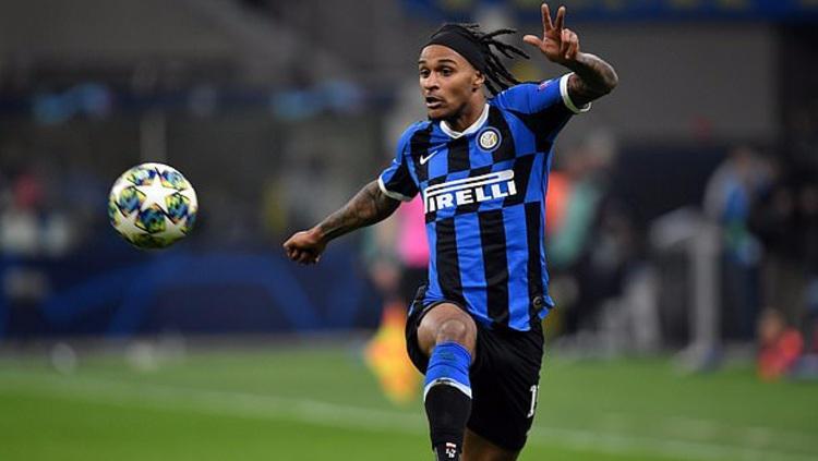 Gelandang Inter Milan Valentino Lazaro yang baru saja gabung Newcastle United. Copyright: SIPA USA/PA Images