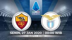Indosport - Prediksi pertandingan Liga Italia antara AS Roma vs Lazio (Serie A Italia).