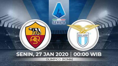 Link live streaming pertandingan Serie A Liga Italia pekan ke-21 antara AS Roma vs Lazio. - INDOSPORT