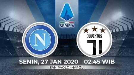 Napoli akan menjamu Juventus dalam laga lanjutan Serie A Italia pekan ke-21 yang akan diselenggarakan pada hari Senin dini hari pukul 02.45 WIB (27/1/2020). - INDOSPORT