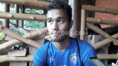 Indosport - Midfielder Arema, Muhammad Rafli.